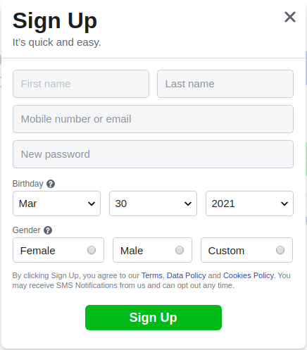 How to create second ad account in Facebook - enter a fake number in the form