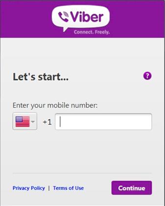 Use a Viber verification number for registration