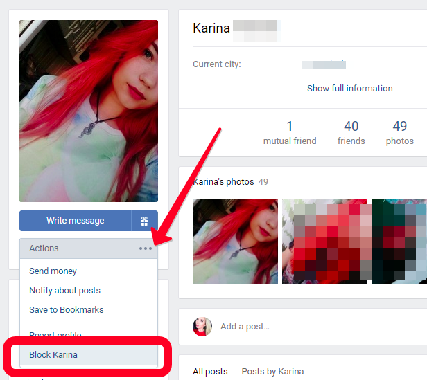 How to block a Vkontakte account