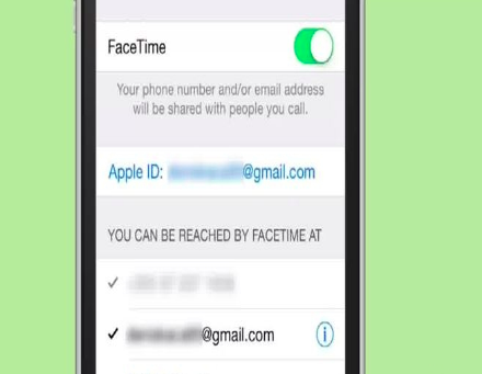 Add several email addresses to use Facetime without SIM card