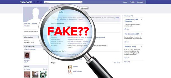 Fake account check Instagram, Facebook, or Twitter