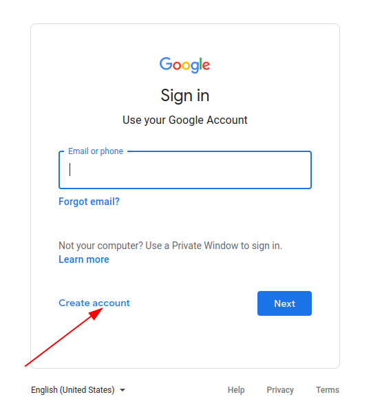 Create a new account on Gmail without a phone number