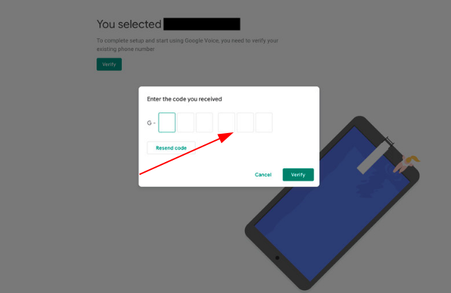Pass SMS verification for Google Voice without phone