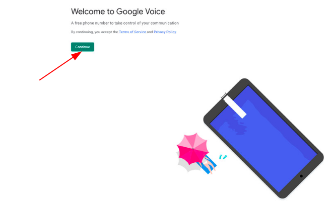 Sign up for Google Voice without phone