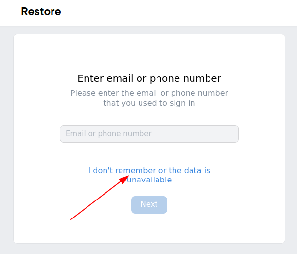 How to restore VK page without phone