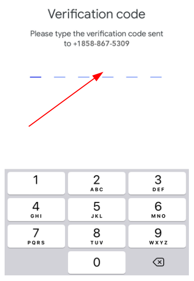 SMS verification on Google Duo without phone number