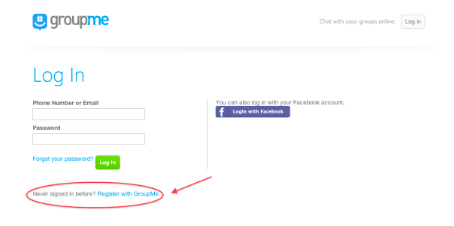 How to register and use GroupMe without phone number