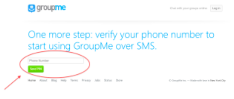 Verify your virtual number to use GroupMe without phone number