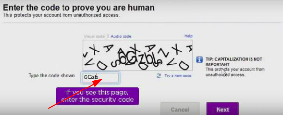 Prove that you are not a robot to complete Yahoo mail password recovery without phone number and email