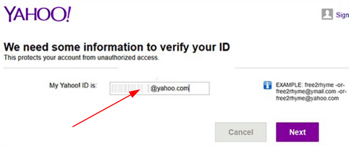 Yahoo mail recovery without phone number via a second email address
