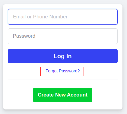 How to recover Facebook account in the standard way