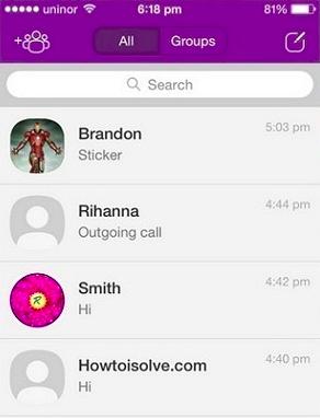 How to find a Viber app secret chat