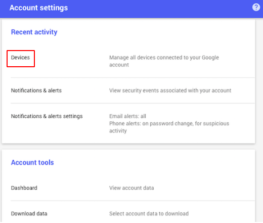 Lock your phone through your Google account