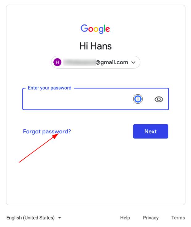 """Retrieve a Google account - press """"Forgot password?"""""""