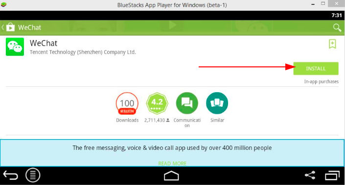Computer WeChat free download via an Android emulator