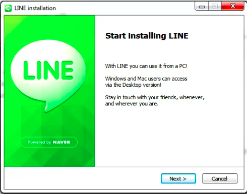 Which functionality will you get after you install Line for PC?