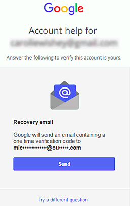 How to restore a Google account via another email
