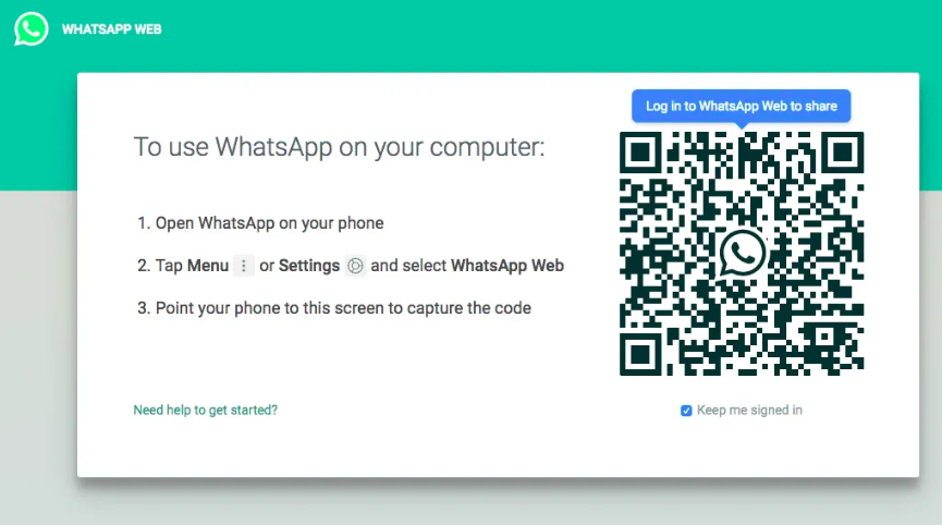 Scan a code to WhatsApp a number without saving on your computer