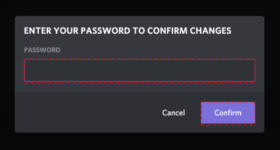 Confirm phone verification for your fake Discord login