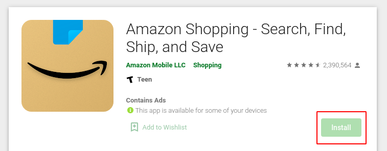Download the app and register with a fake Amazon number