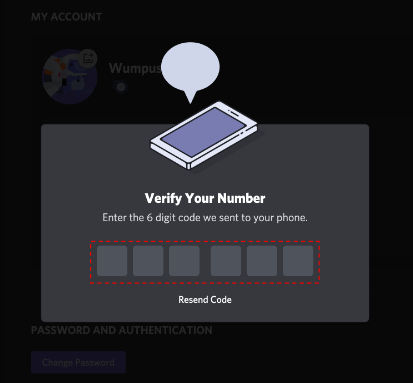 Verify a disposable number for your fake Discord login
