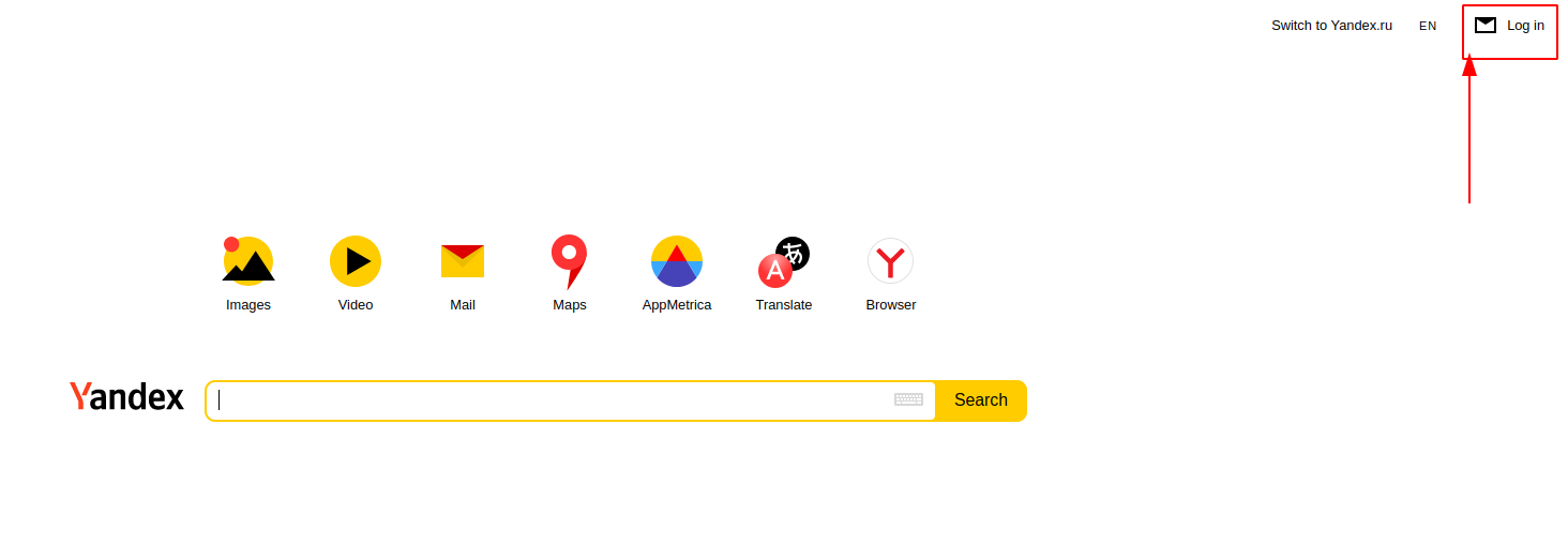 Go to the website of the mail service to make Yandex multiple accounts